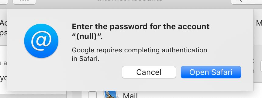 Mojave 10 14 4 fails to Authenticate Gmai… - Apple Community