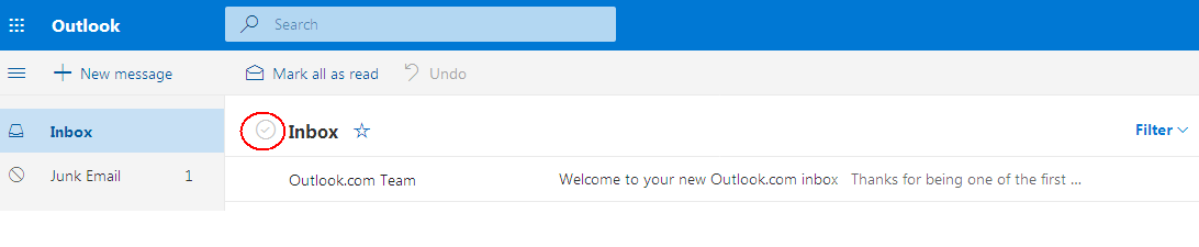 outlook email delete all - Apple Community