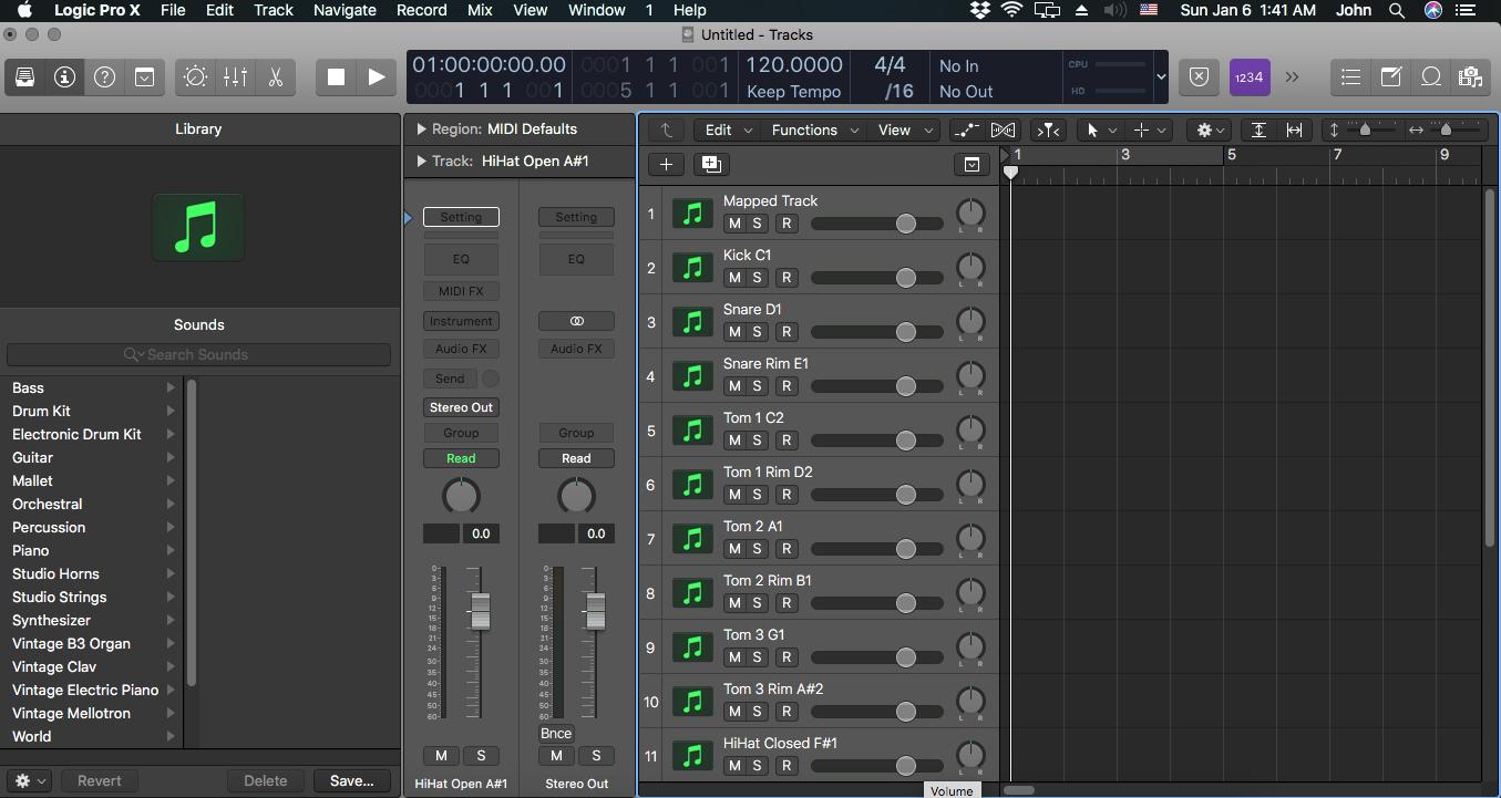 How to create a custom midi drums track s… - Apple Community
