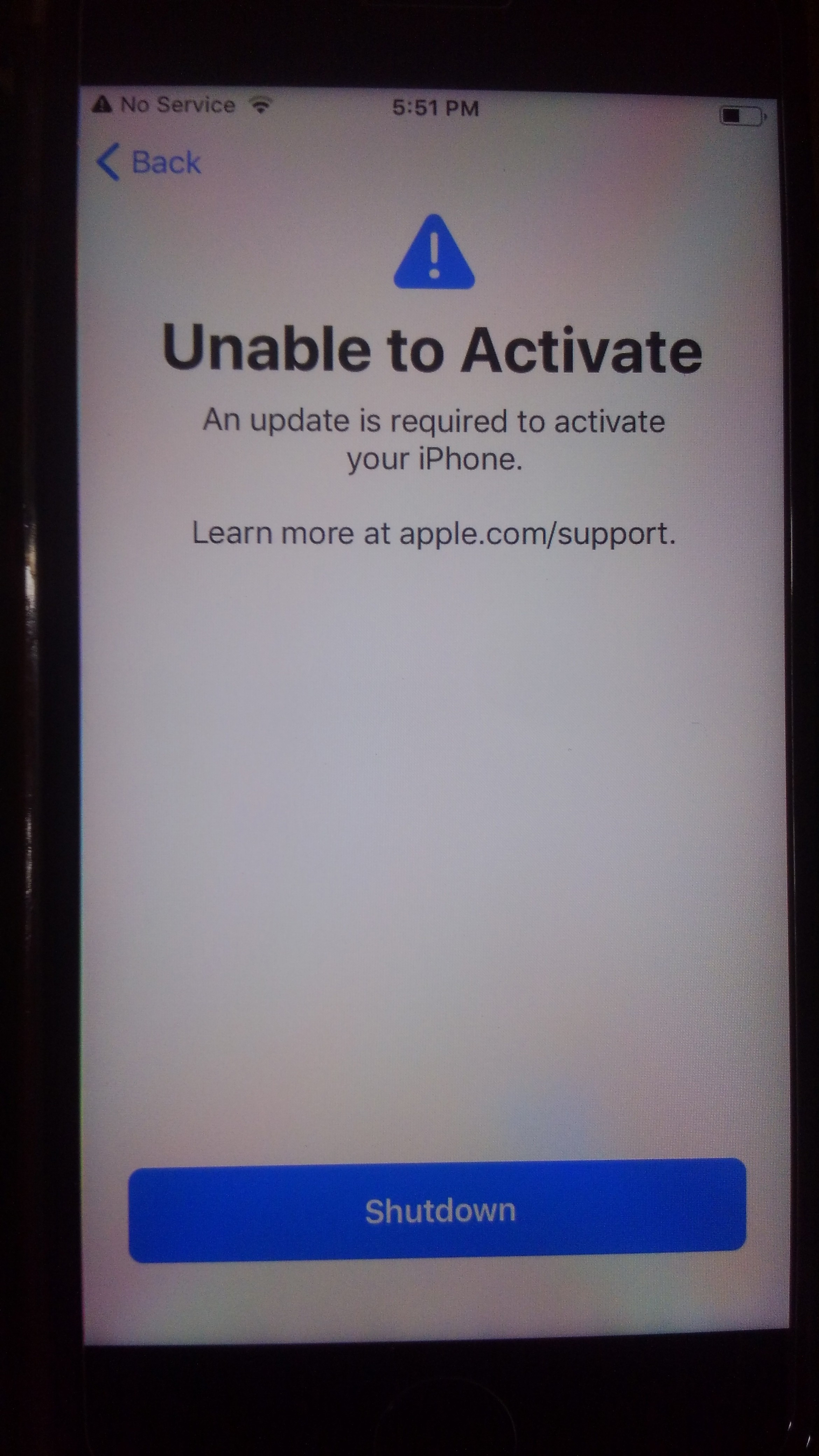 iPhone 7 update required to activate phone - Apple Community