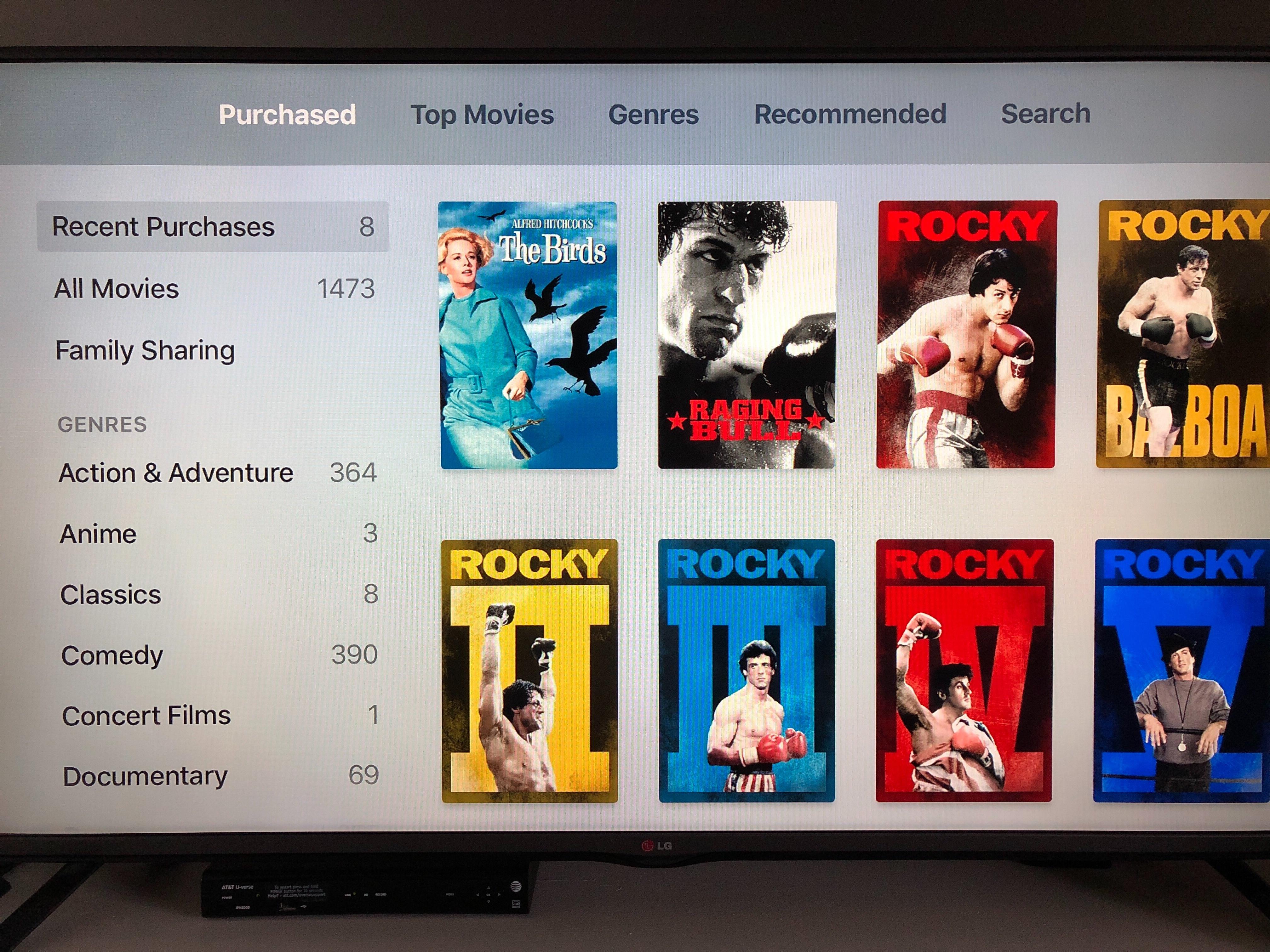 Apple TV - Movies app: Recent Purchases i… - Apple Community