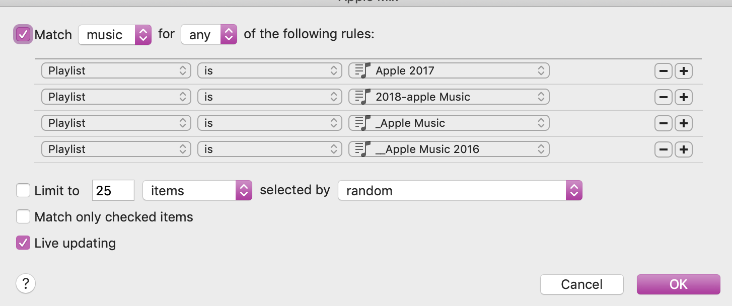 "The playlist ""Apple Mix"" can't be added t… - Apple Community"