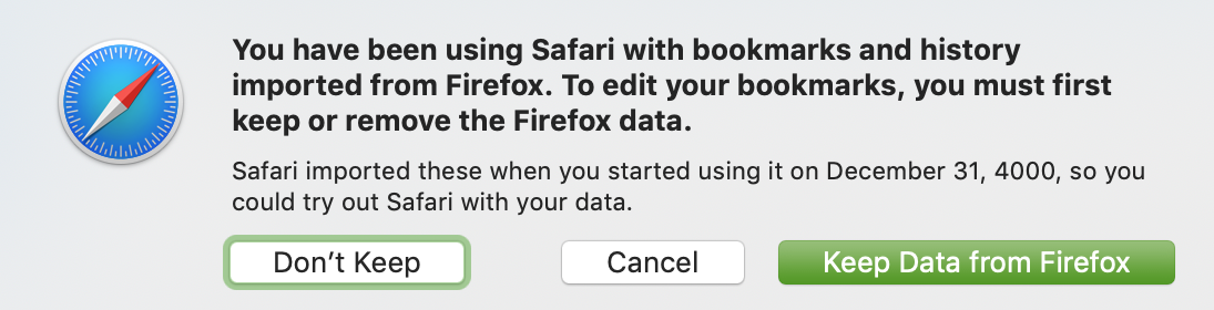 Safari Bookmarks imported from Firefox - Apple Community