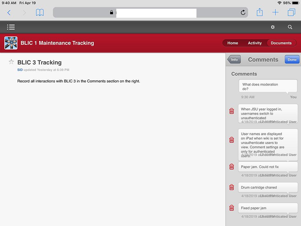 Wiki Blog Comments list 'Unauthentica… - Apple Community