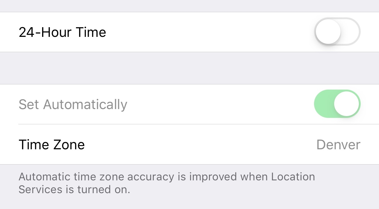 """Set Automatically"""" is locked in Date and… - Apple Community"""