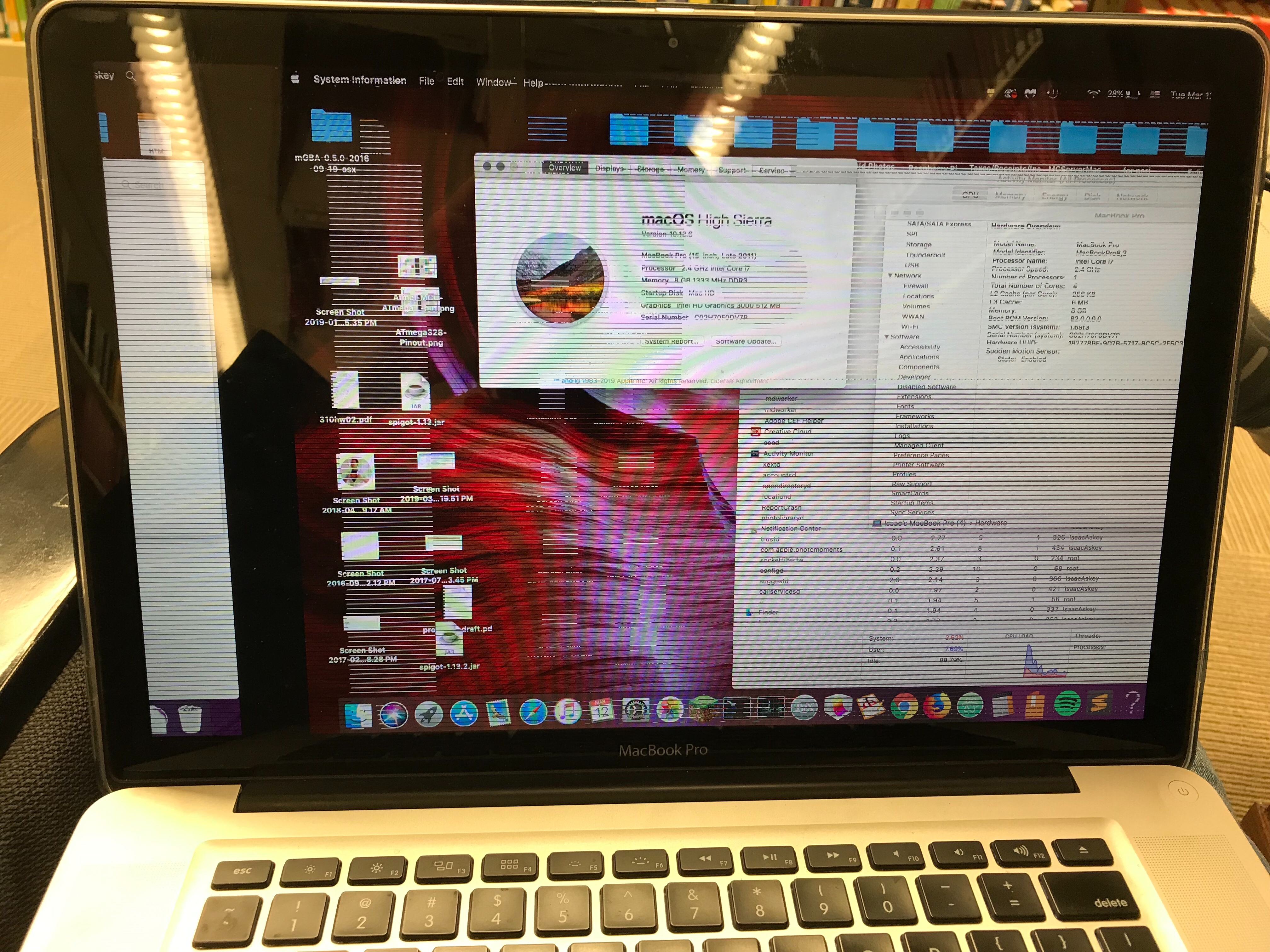 Late MacBook Pro Late 2011 Constantly Cra… - Apple Community