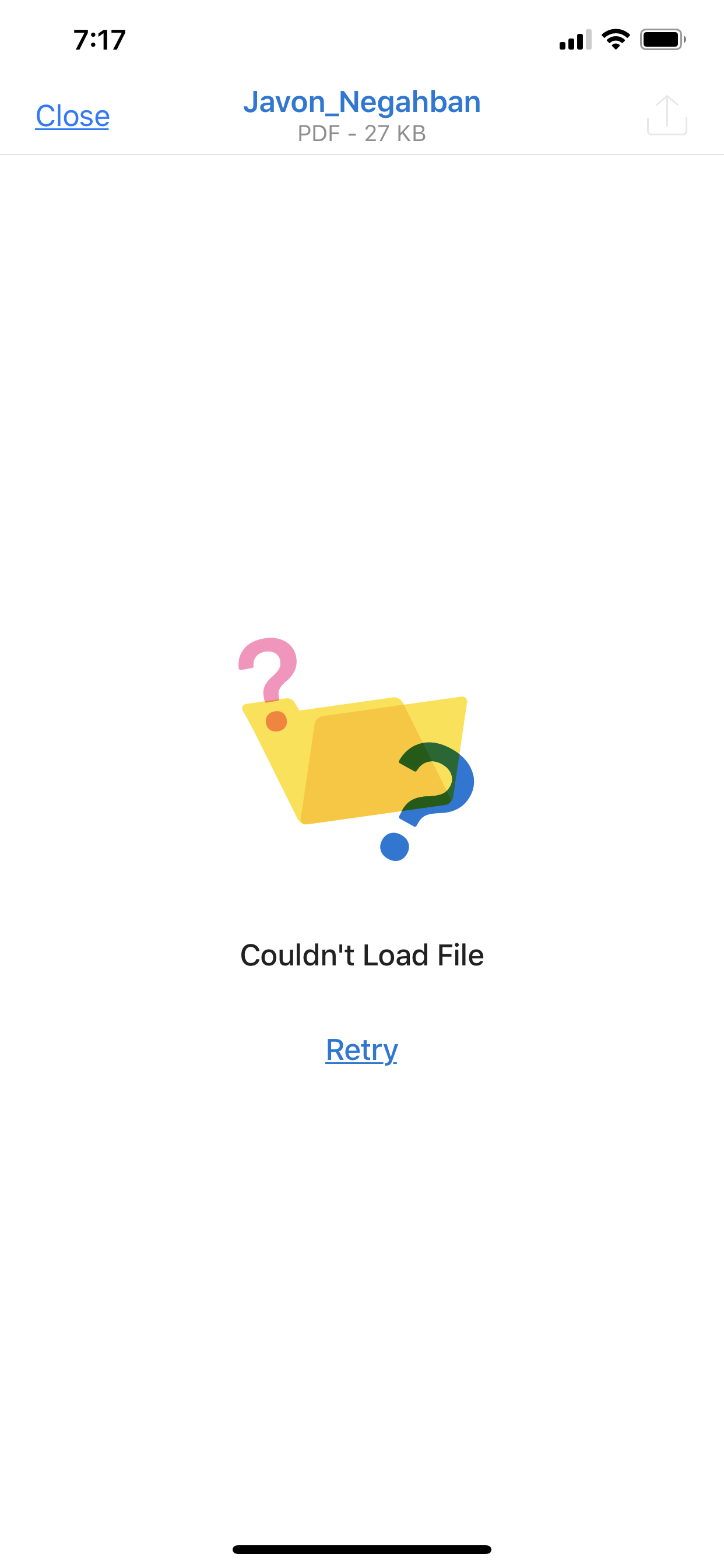 """Couldn't load file"""" error for any Outloo… - Apple Community"""