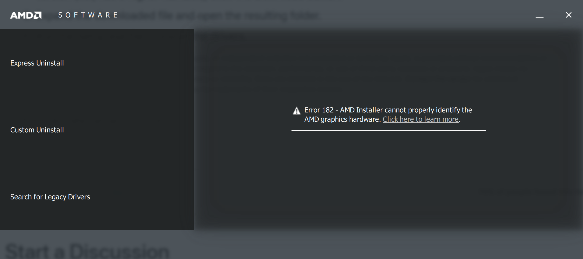 Issue After Updating AMD Graphics Driver … - Apple Community