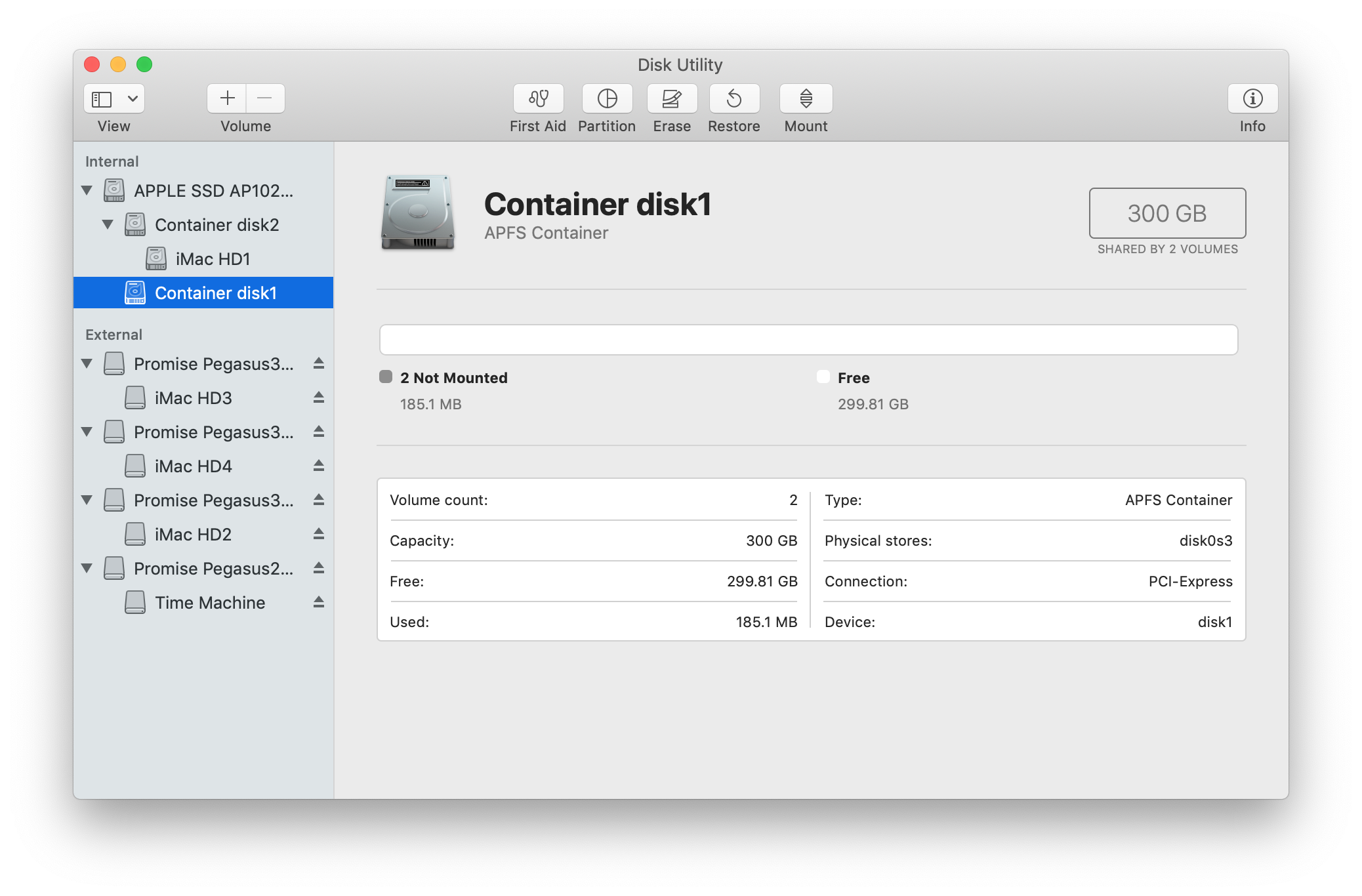 What is Container disk1 and how can I del… - Apple Community