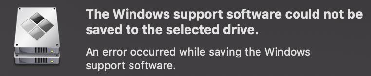 error occured while saving windows suppor… - Apple Community